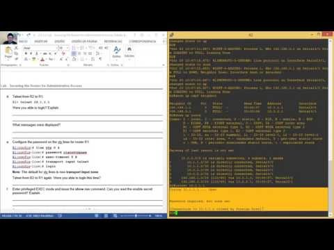 2.6.1.2 Lab - Securing the Router for Administrative Access