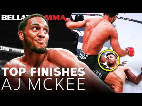 A.J. McKee's TOP 10 Fight Finishes   Bellator MMA