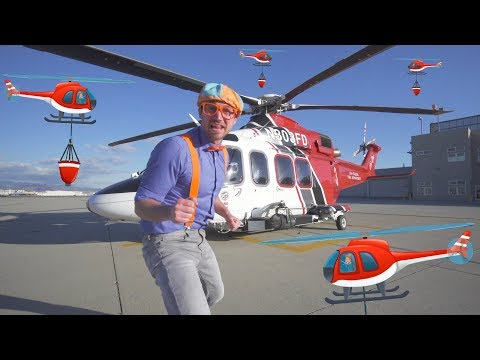 Blippi Firefighting Helicopter | Learn Machines for Kids with Songs for Children
