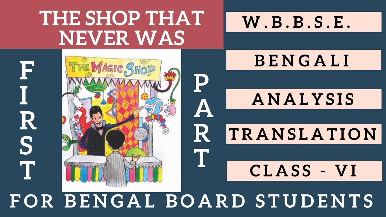 The Shop That Never Was By H G Wells Bengali Meaning Summary Class VI First  Part