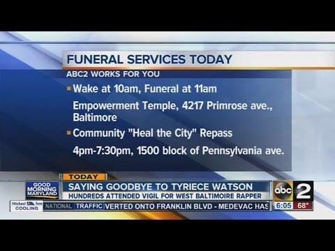 Hundreds attend vigil for Baltimore rapper