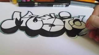 Простое граффити на бумаге#7