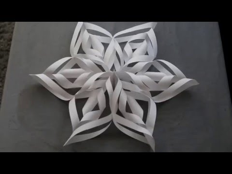 How to make a will paper snowflakes 3d step by