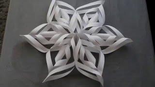 3D Paper Snowflakes DIY
