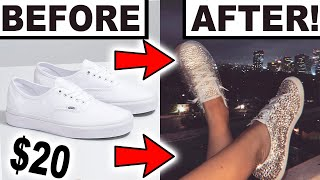 DIY BLINGED OUT SNEAKERS!