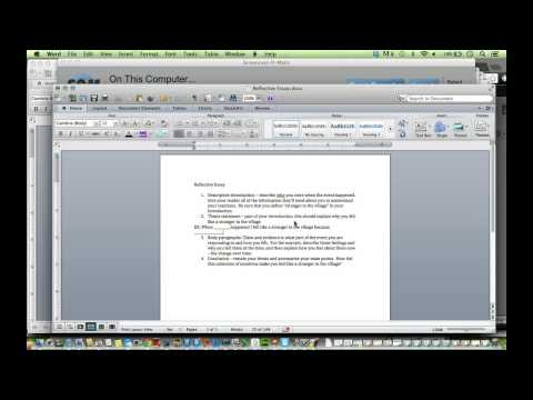 Overview of Reflective Essay Summative
