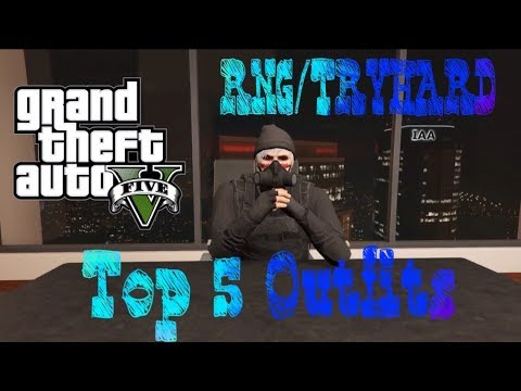 BEST 5 SIMPLE TRYHARD/RNG OUTFIT! (GTA 5 ONLINE) CLOTHING GLITCHES!