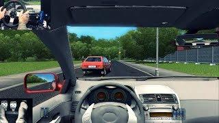 City Car Driving - Acidente Na Minha Primeira GamePlay - Jogando De Volante G27