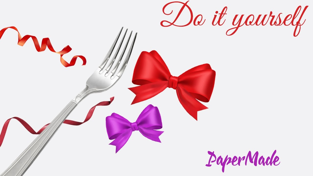 How to tie a bow with fork very easy diy papermade youtube how to tie a bow with fork very easy diy papermade ccuart Image collections