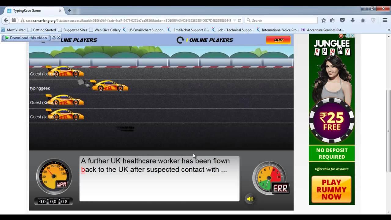 typing speed test game