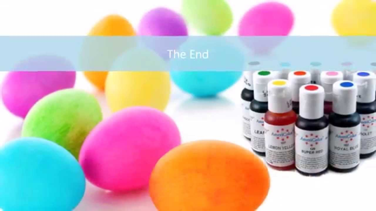 How to Dye or Color Easter Eggs with Food Coloring and Stickers ...