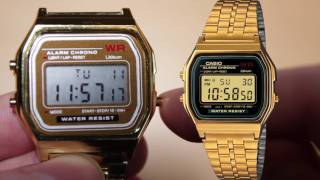 Gold Casio Watch Clone for $3 50, Unboxing & Review A159WGEA 1EF from Gearbest