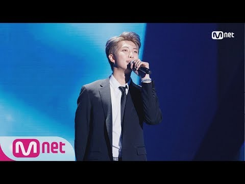 RM(Of BTS) Speech Perf.� MAMA in HONG KONG 181214