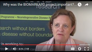 Why was the BIOMARKAPD project important? An interview with Gunhild Waldemar