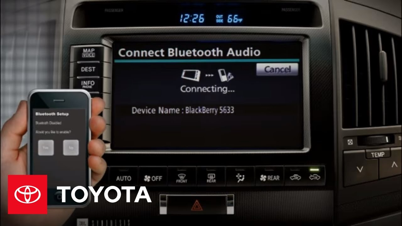 2011 Land Cruiser How To Bluetooth Music Streaming Toyota