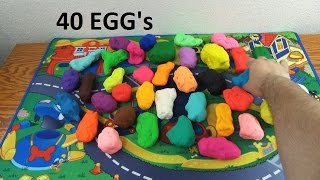 Play doh 40  surprise eggs
