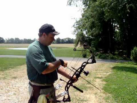 Shooting 80yds With The New Hoyt Carbon Matrix Youtube