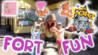 видео: VLOG Fort Fun парк аттракционов\attraktionen в Германии! Алиса  и влог