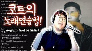 코트가 노래 카피하는 방법! 따라해보세요 / Weight In Gold by Gallant (노래하는코트)