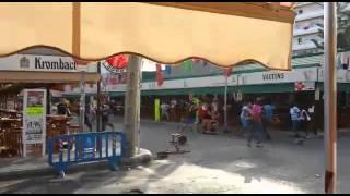 Pelea africanos contra turistas alemanes calle del jamon 2015