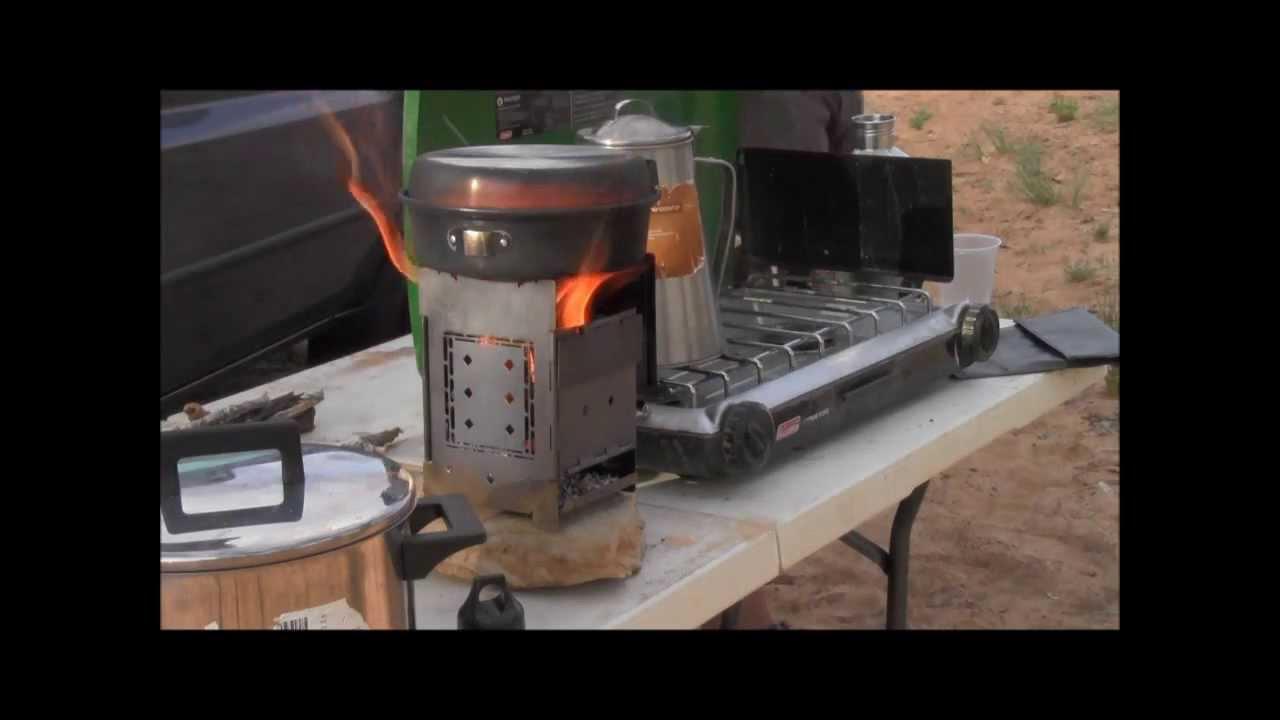 Coleman Camp Stove VS Folding Firebox Campfire Stove Wood