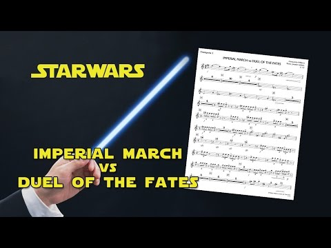 Star Wars Sheet Music  - Imperial March vs Duel of the Fates ( John Williams )