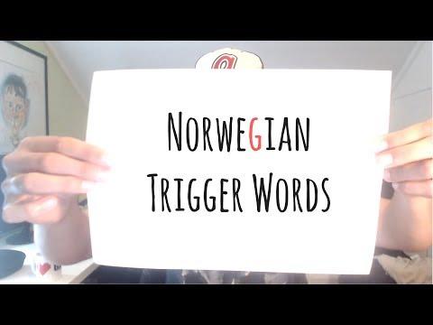 ASMR | The Best 30 Norwegian Trigger Words??