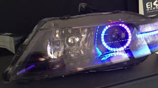 A close look at the NeoPrism (Sequential/Chasing RGB) LEDs installe...