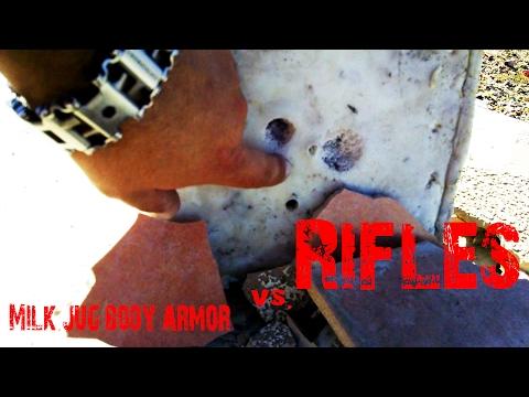 Milk jug armor rifles test