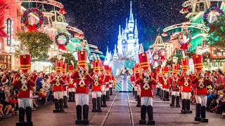 [4K] Once Upon a Christmastime Parade - 2019 Mickey's Very Merry Christmas Party