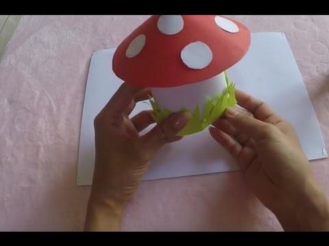 DIY 3D Paper Mushroom