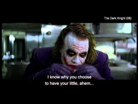 """The Dark Knight (clip5) -""""If you're good at something, never do it for free"""""""