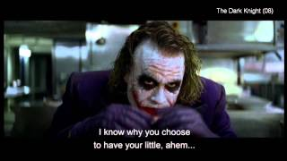 "The Dark Knight (clip5) -""If you're good at something, never do it for free"""