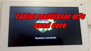 Tablet multilaser m7s quad core nenhum comando