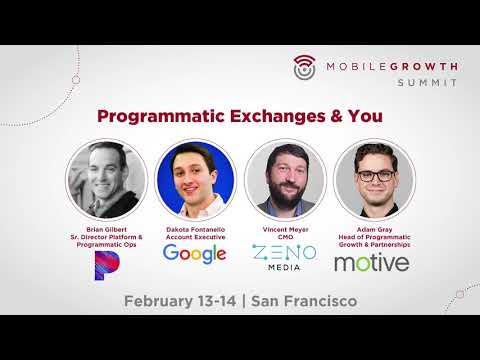 PANEL: Programmatic Exchanges & You | Pandora, Google, Motive Interactive, Zeno Media
