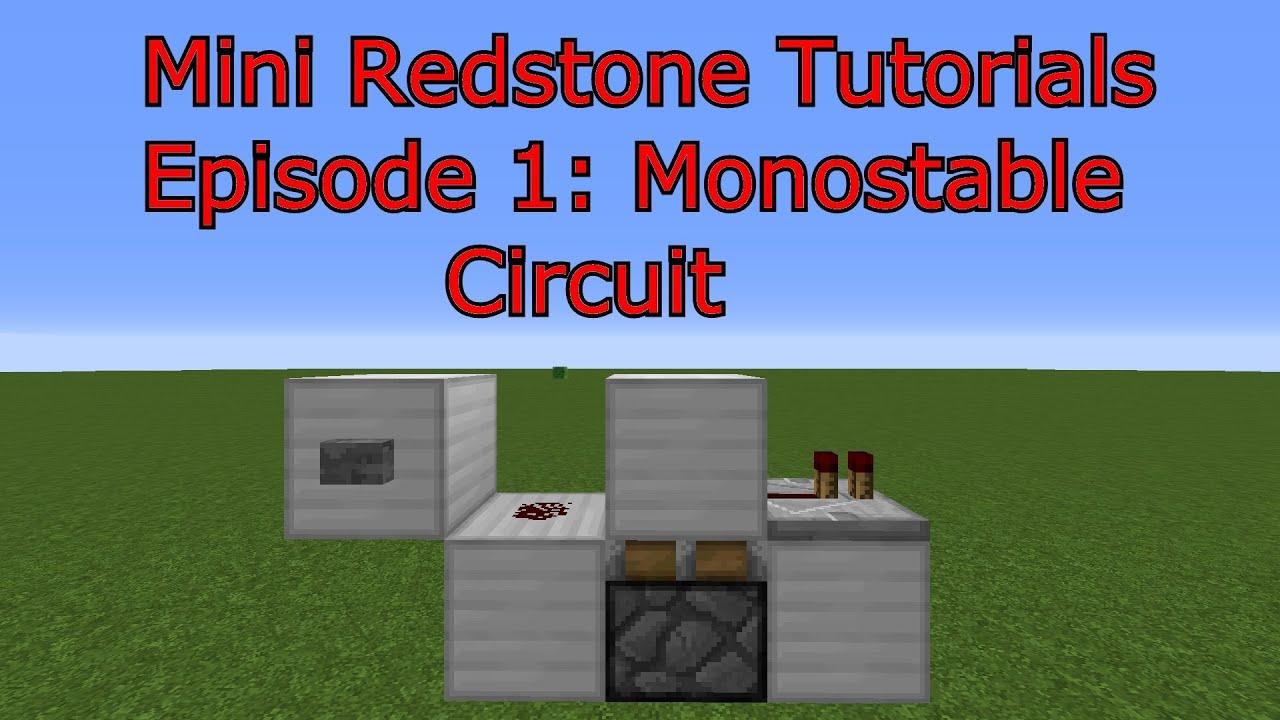 monostable circuit minecraft