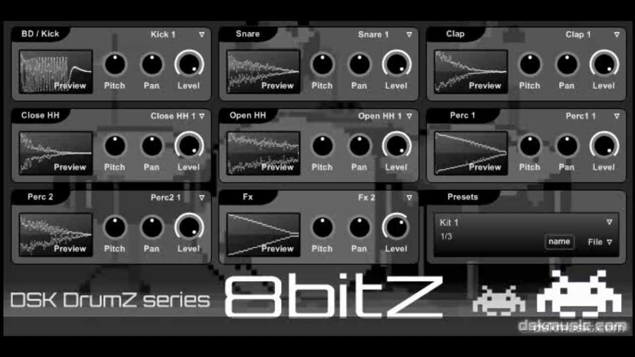 DSK Music releases DSK DrumZ 8bitZ - free VST instrument