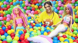 Классные игры для девочек. В мире морском с Barbie Dreamtopia! Новое видео про куклы.
