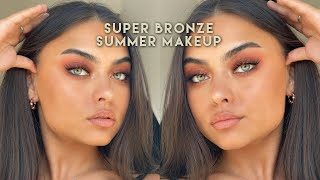 Bronze summer makeup tutorial ♡ using Gigibee Beauty lashes