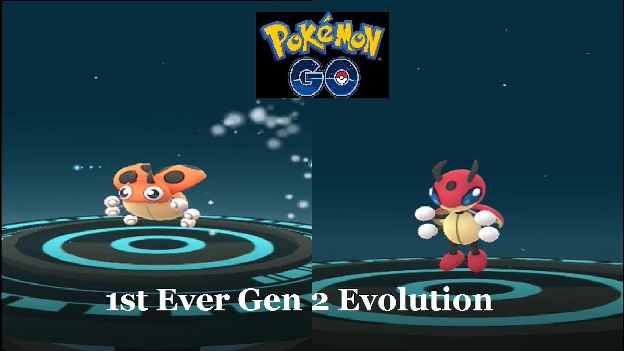 First Ever Gen 2 Evolution In Pokémon Go Ledyba Ledian Youtube