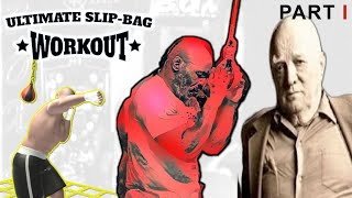 boxing drills on a slip bag with Mike Tyson peekaboo style , Part 1/2