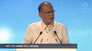 APEC CEO SUMMIT 2015: President Benigno Aquino III