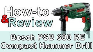 Bosch PSB 680 RE Compact Hammer Drill How to and Review