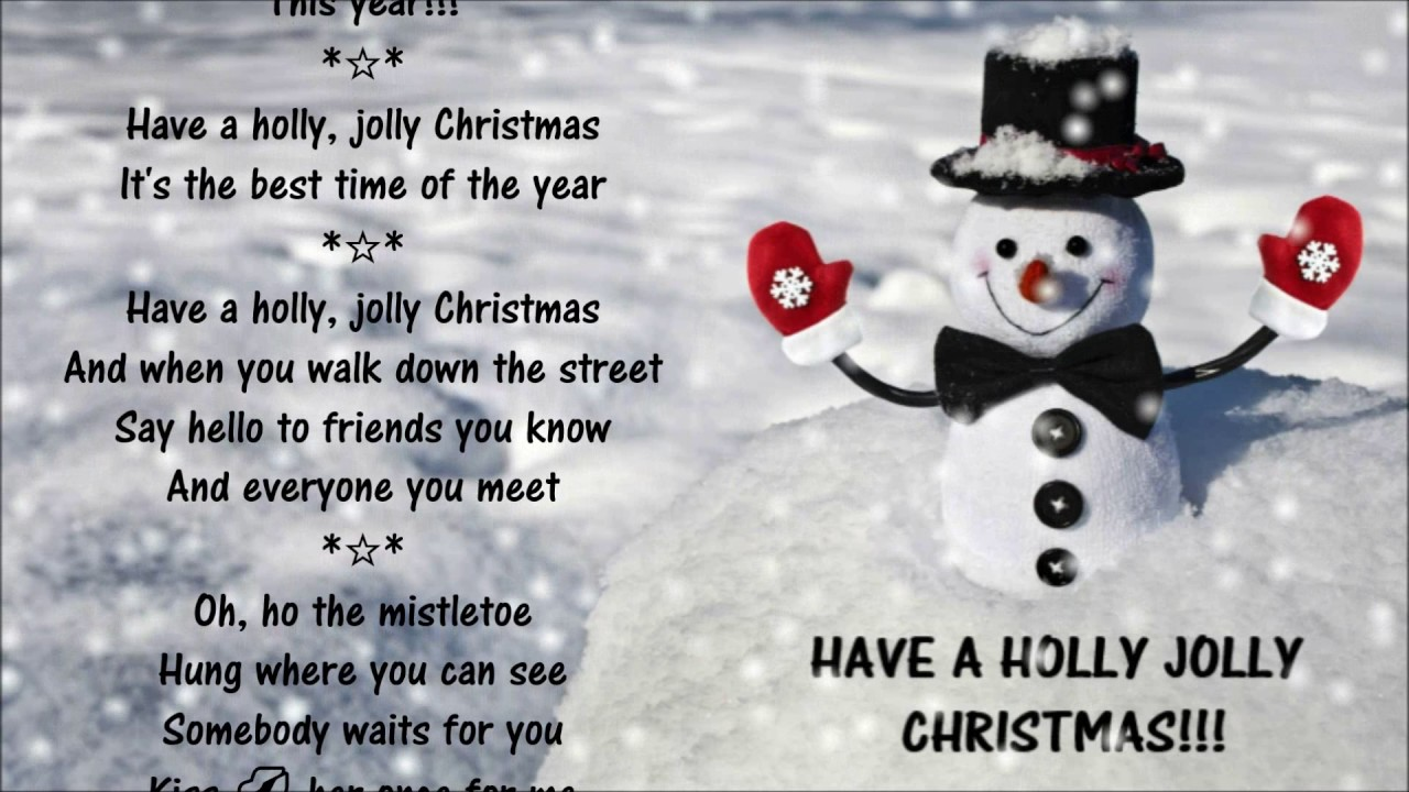 Have A Holly Jolly Christmas *☆* Burl Ives - YouTube