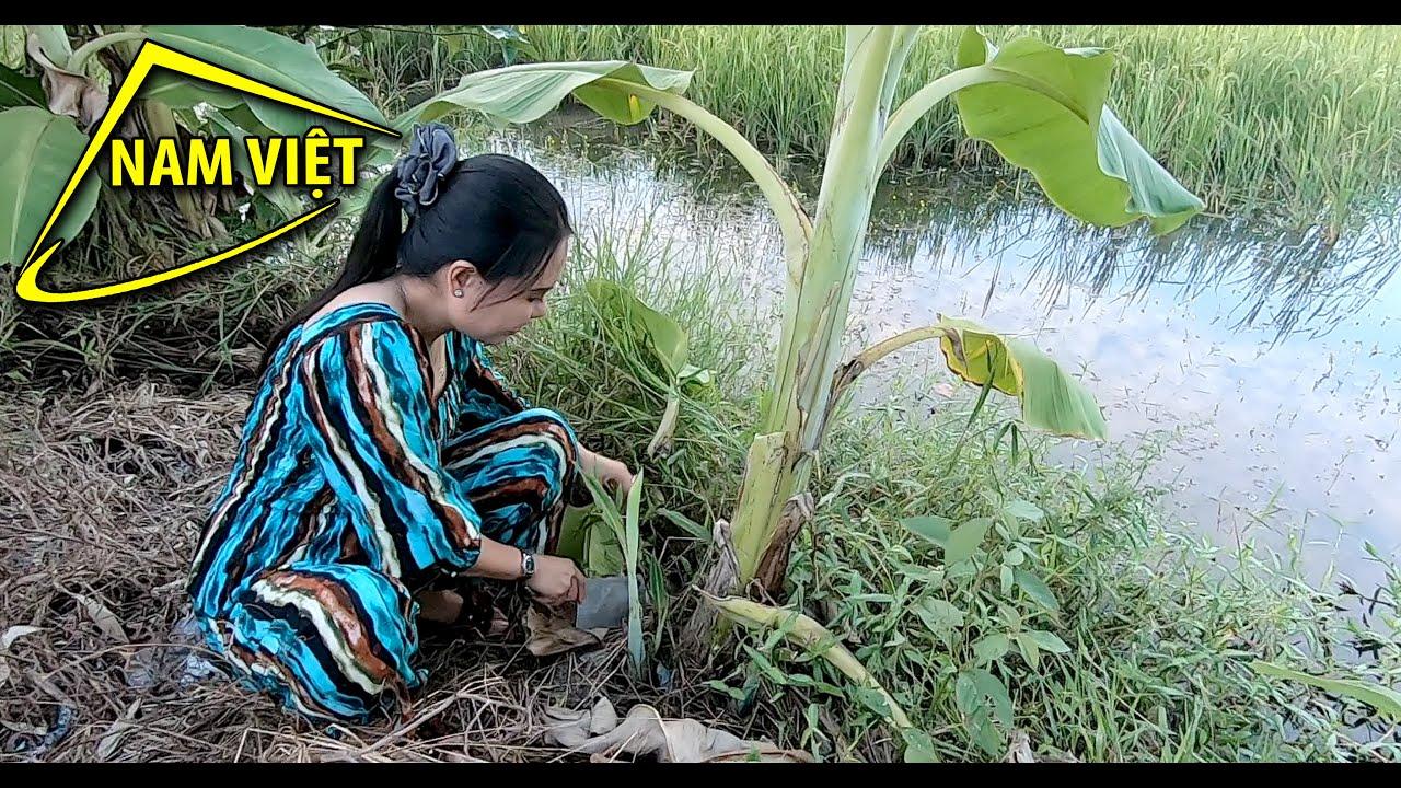 Chị Sơn ca chuẩn bị nồi mắm kho tối - Nam Việt 1232