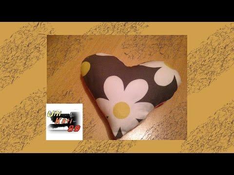 Herzkissen Nähen Anleitung Anfänger Schablone Geschenk #UniKati89