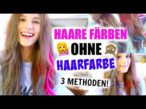 HAARE FÄRBEN OHNE HAARFARBE! 3 Methoden ♡ BarbieLovesLipsticks