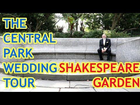 The Central Park Wedding Tour - The Shakespeare Garden