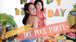 Olivia's DIY Pool Party at home Andi Manzano Reyes