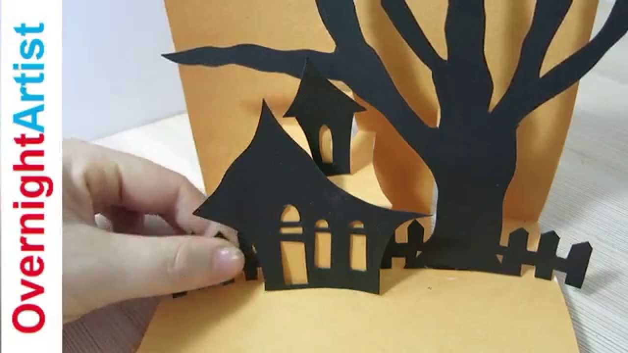 Halloween Card Making Ideas Part - 25: Halloween Card - How To Make Pop Up Card For Halloween - YouTube